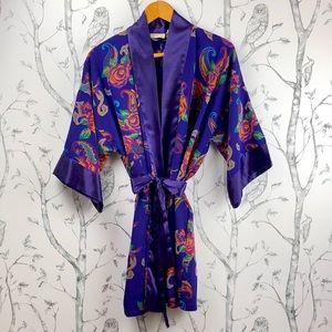 Vintage gold label Victoria's Secret satin robe